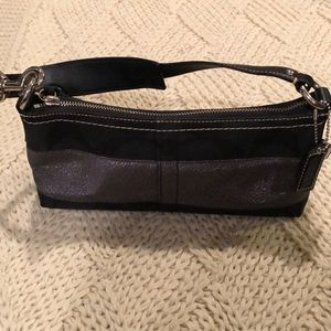 Coach black and silver bag evening bag